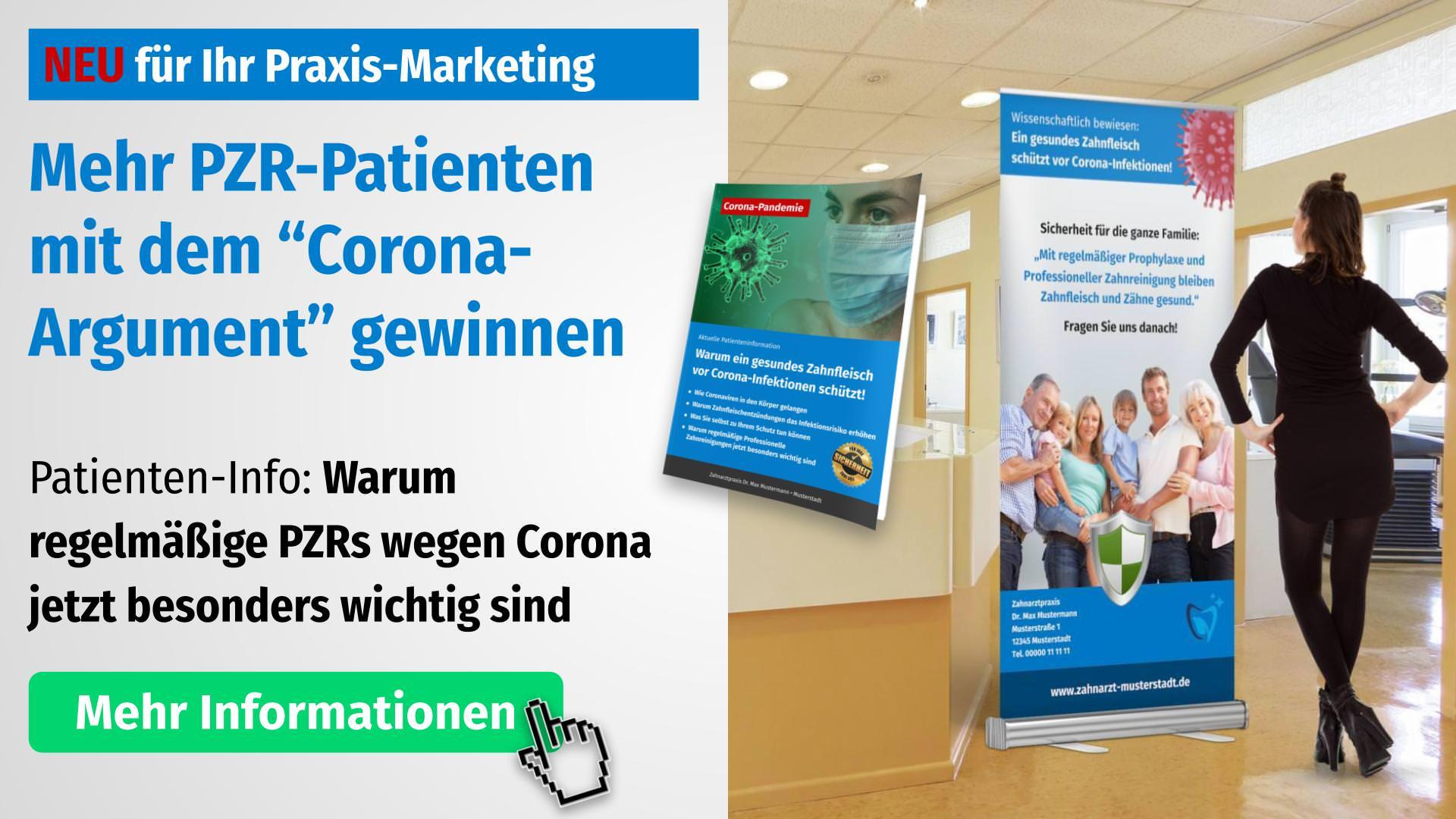 Corona-Flyer: Warum regelmäßige Zahnarztbesuche wichtiger denn je sind