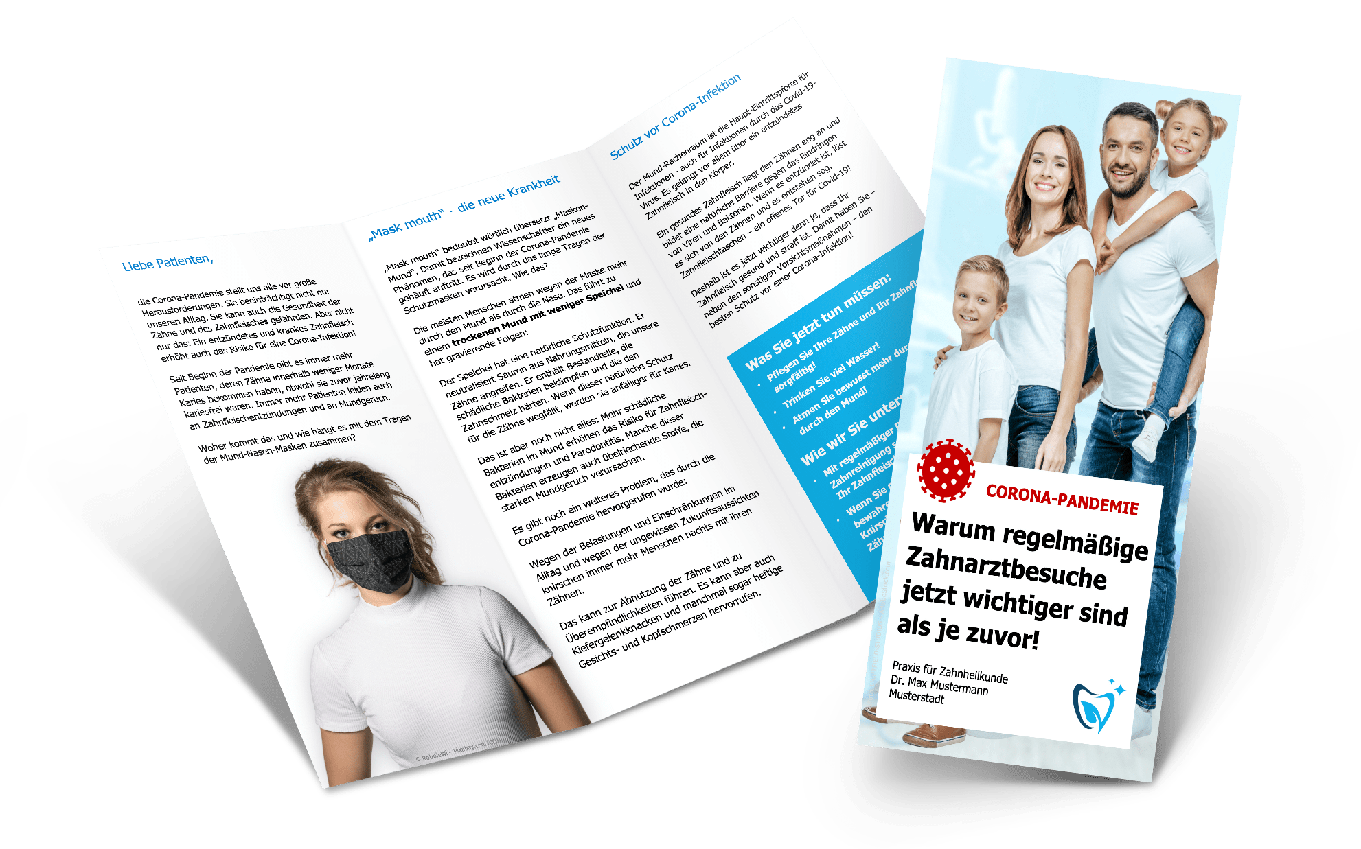 Flyer Corona-Info für Patienten