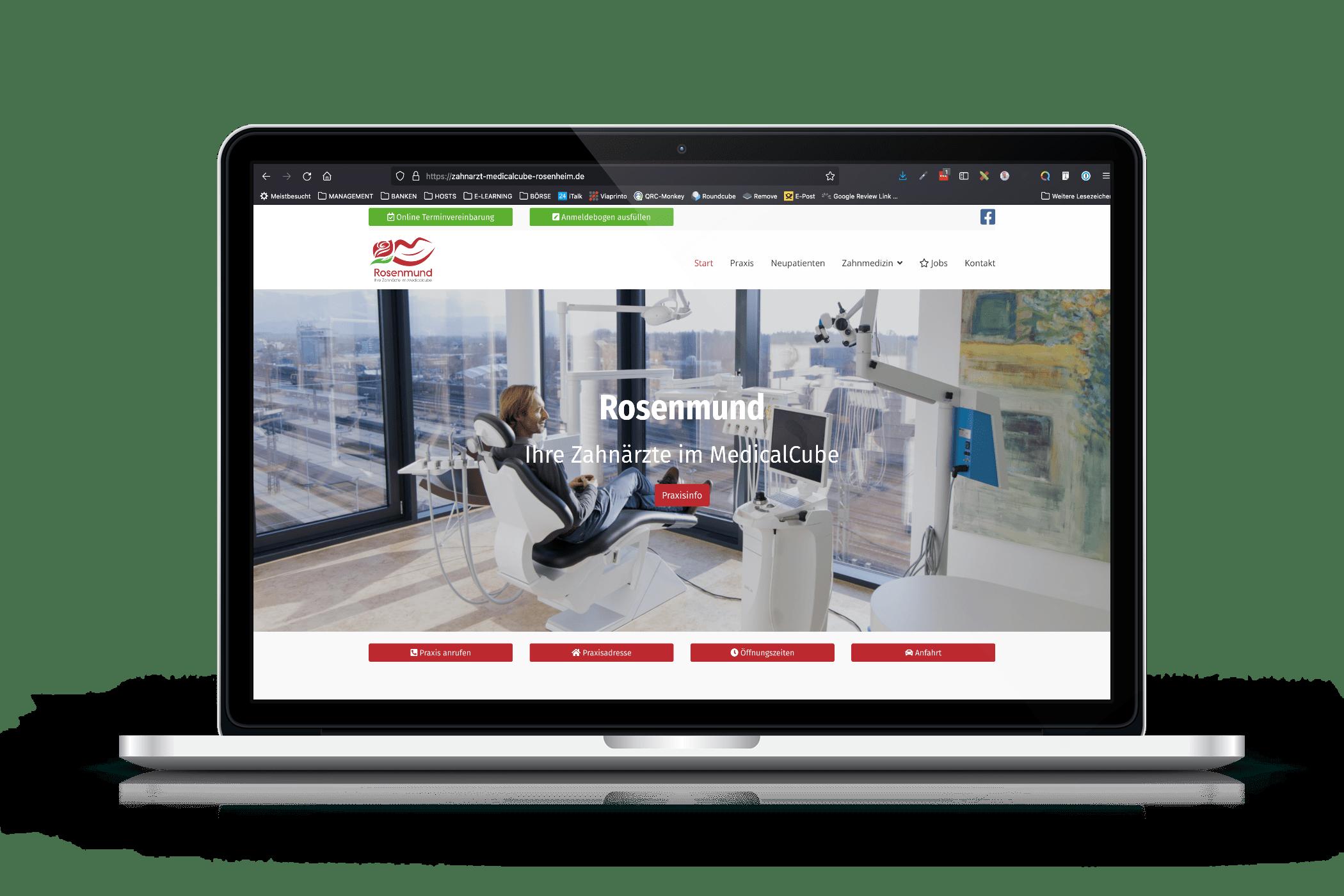Praxis-Website Zahnarztpraxis Rosenheim