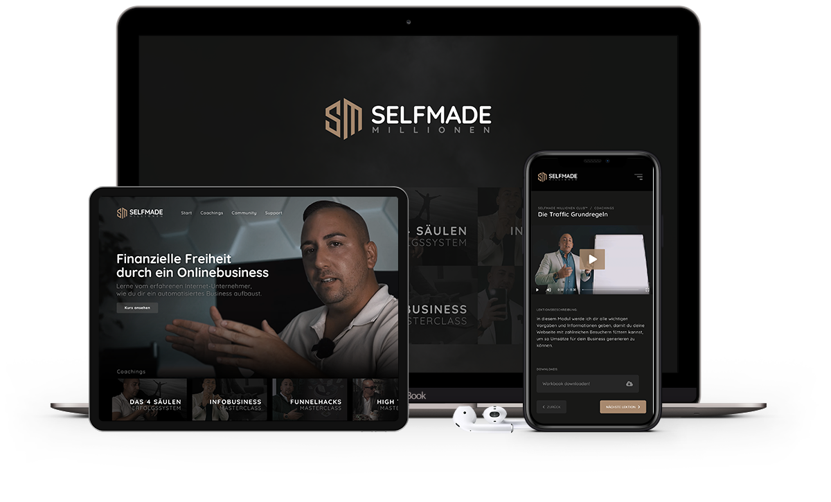 Responsive Selfmade Millionen Club