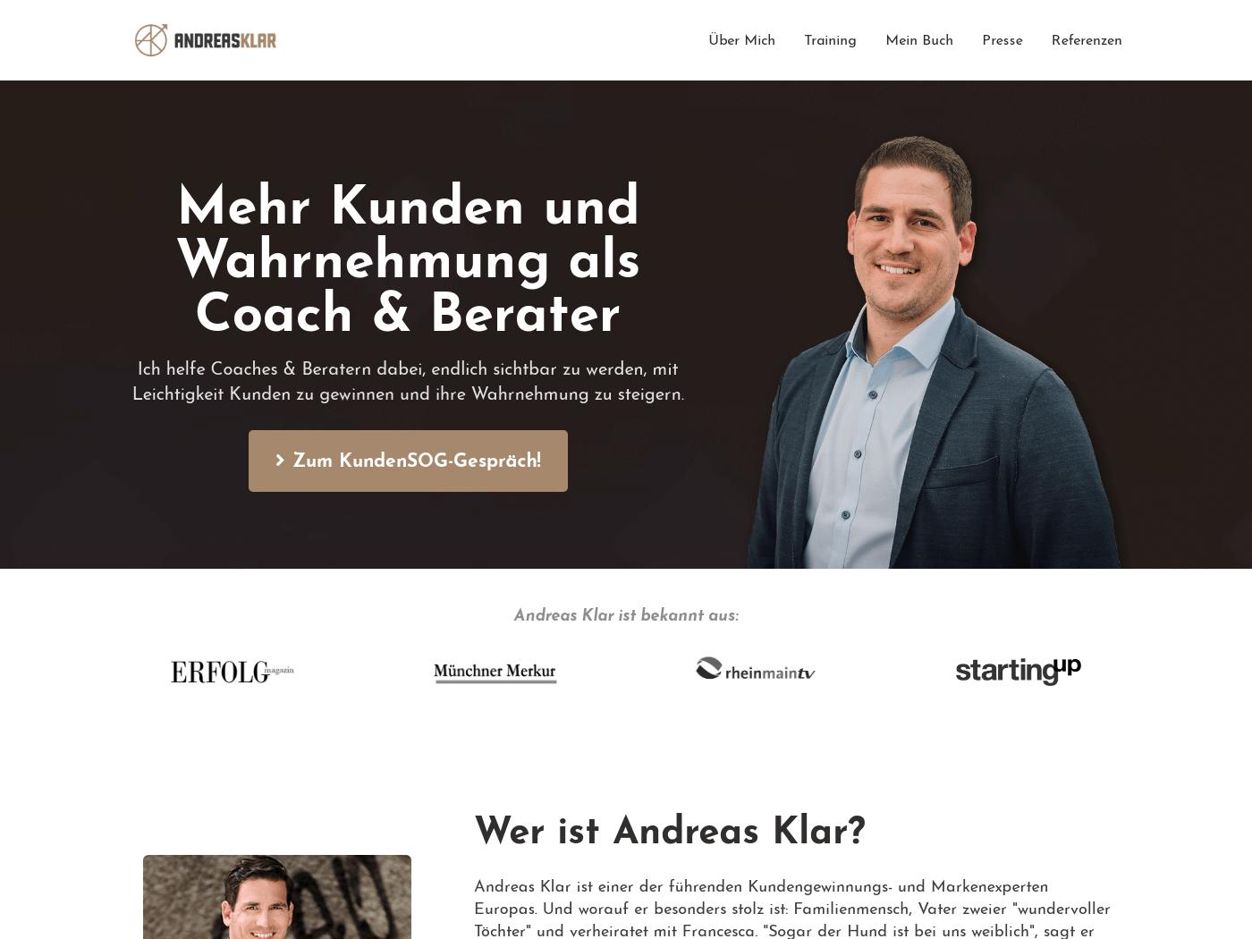 Andreas Klar Homepage