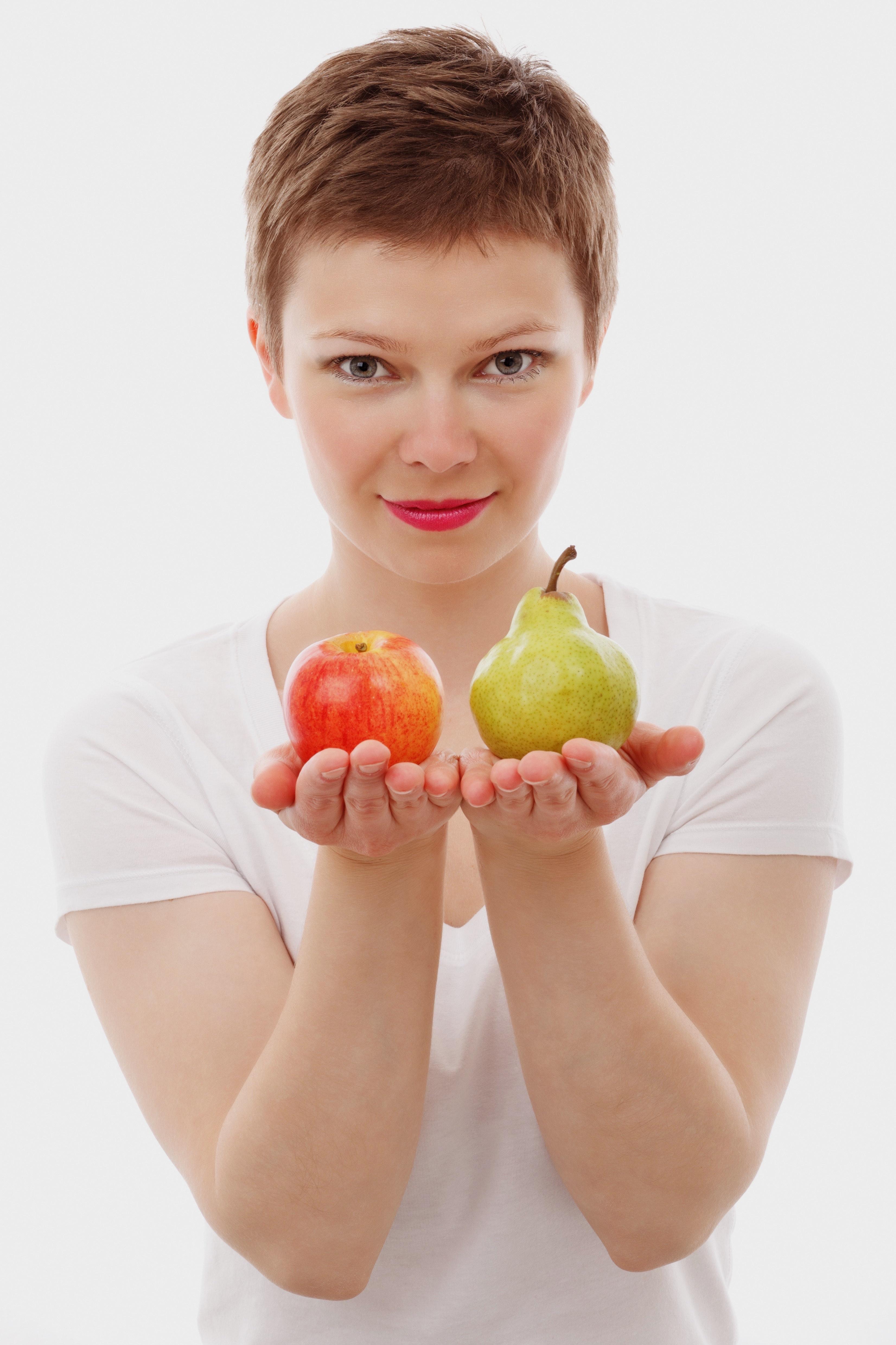 Frau mit gesunder Ernährung