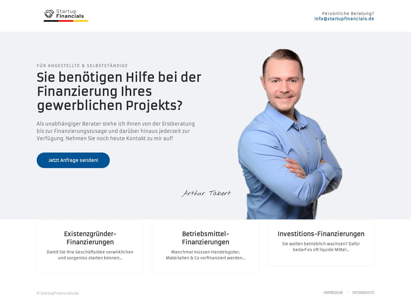 Startup Financials Startseite