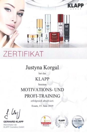 Kosmetikerin Zertifikat - Klapp Motivations- und Profi-Training