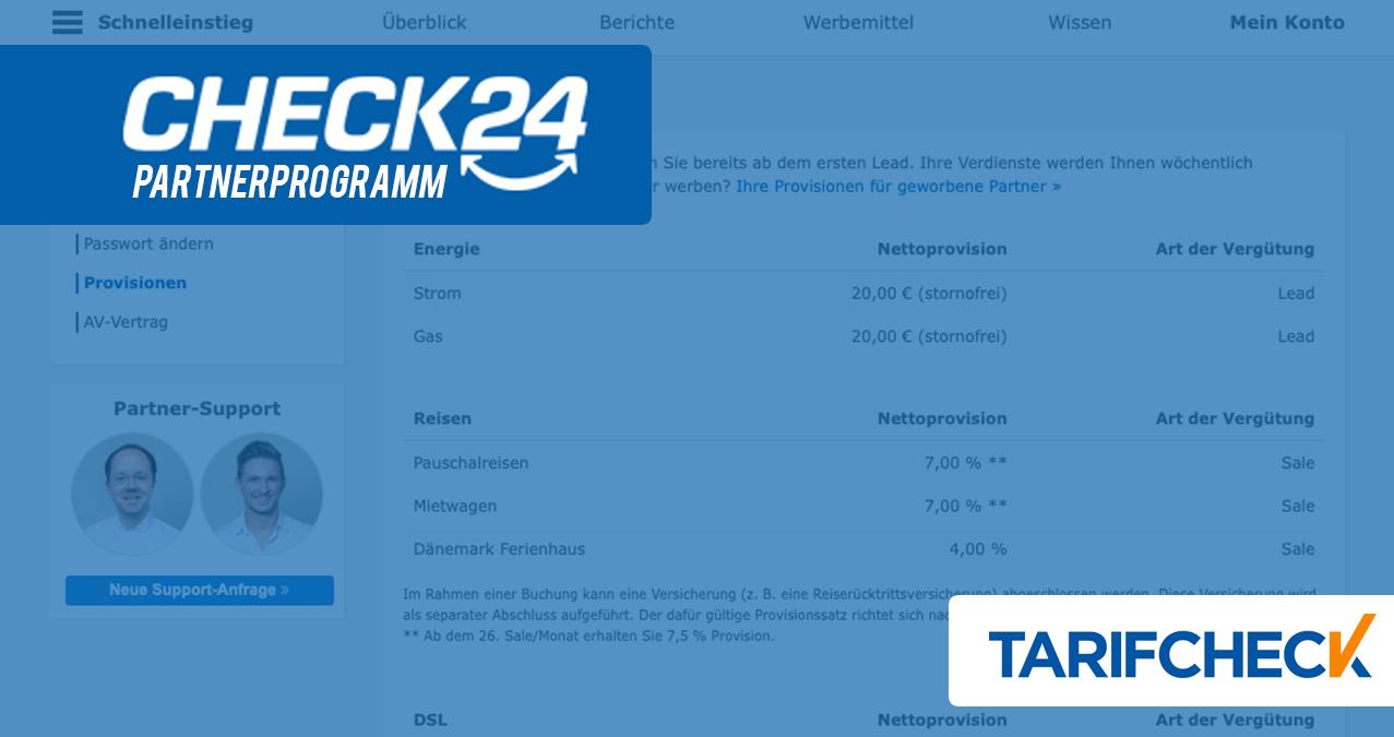 Check24 Partnerprogramm - Erfolgreich Geld verdienen