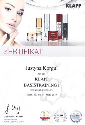 Kosmetikerin Zertifikat - Klapp Basistraining 1