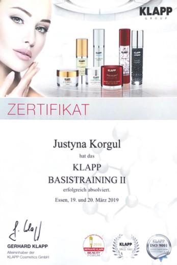 Kosmetikerin Zertifikat - Klapp Basistraining 2