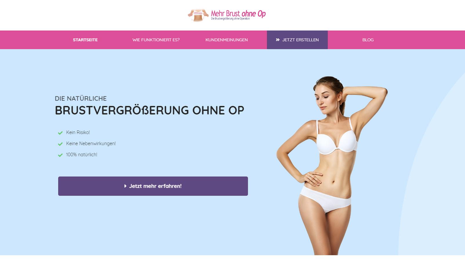 Mehr Brust ohne Op - Brustvergrößerung ohne Op
