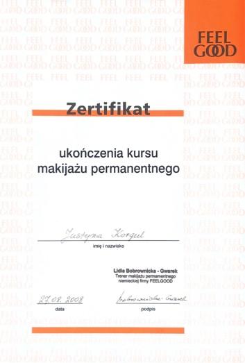Zertifikat - Feel Good
