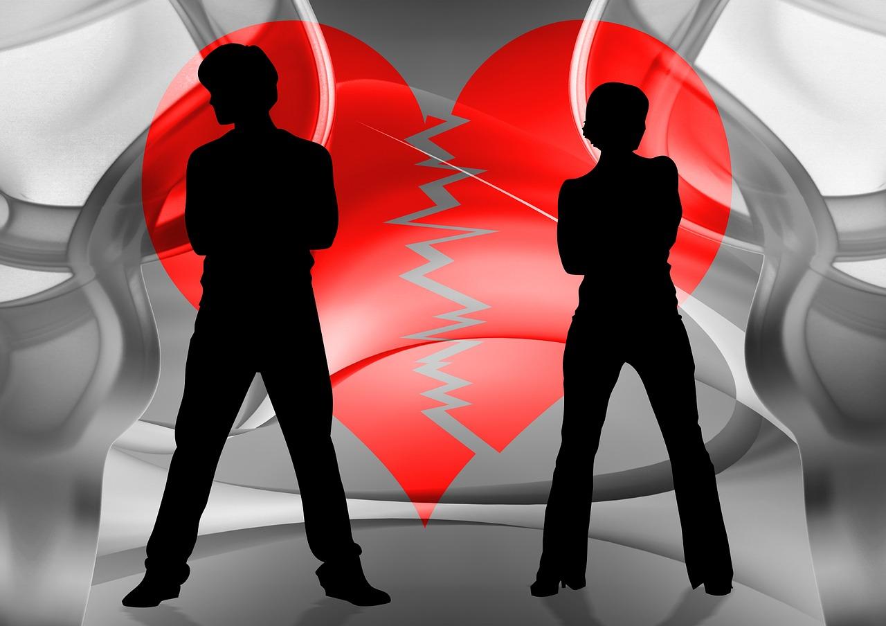 Beziehungskonflikt -Streit