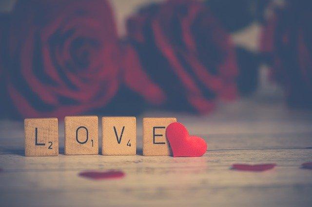Liebessprüche Holzblock