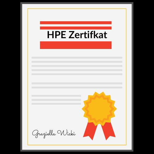 HPE-Formel Zertifikat