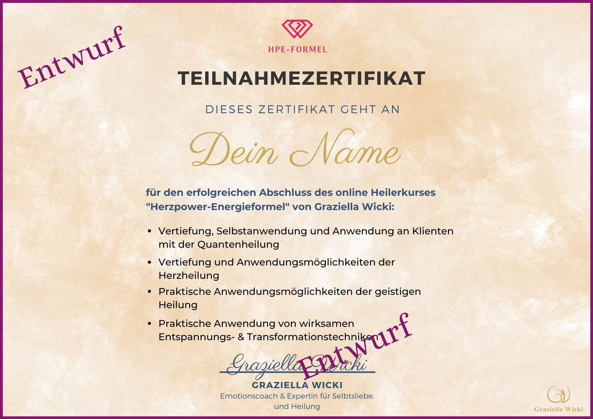 HPE-Zertifikat