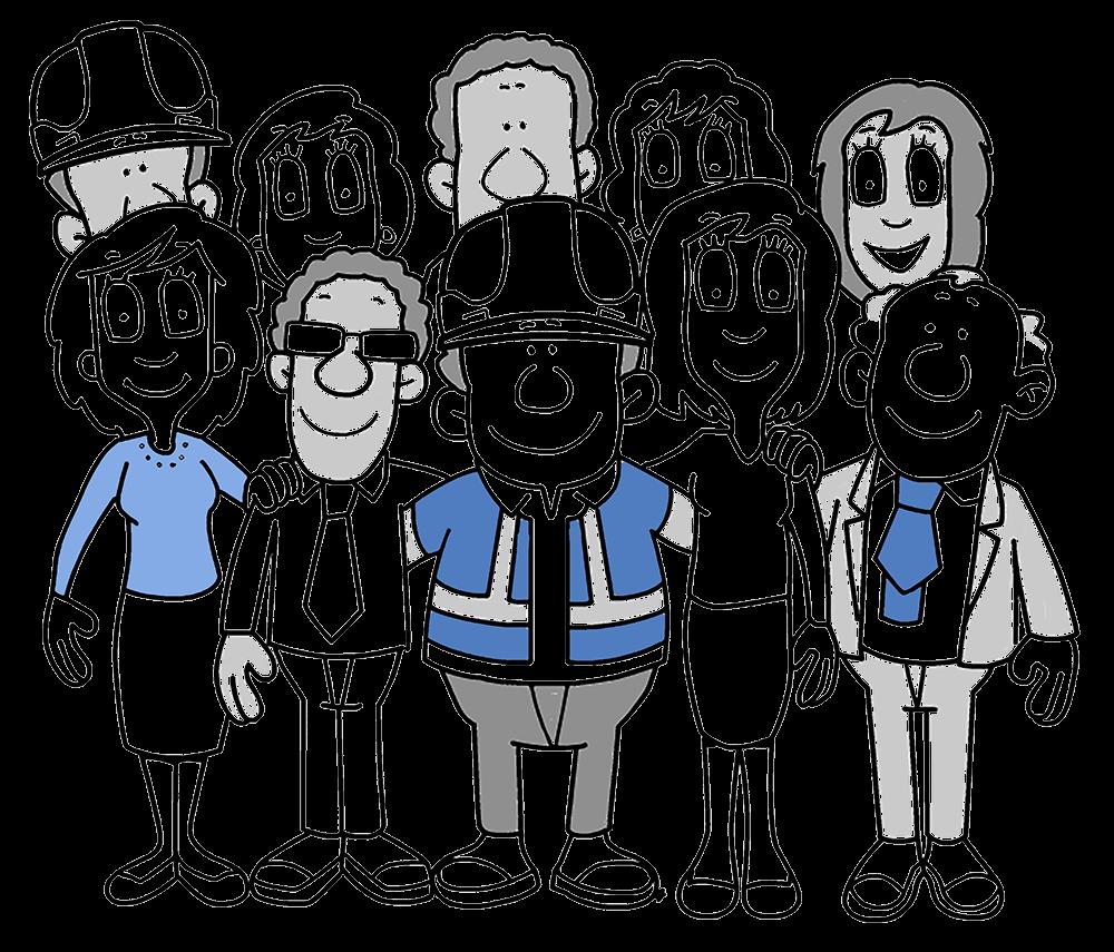 Mitarbeiter halten als Team zusammen
