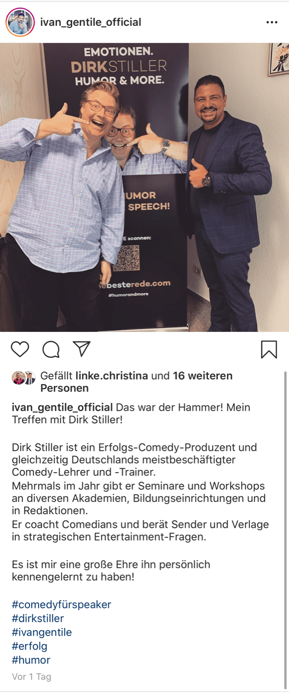 Ivan Gentile über Dirk Stiller