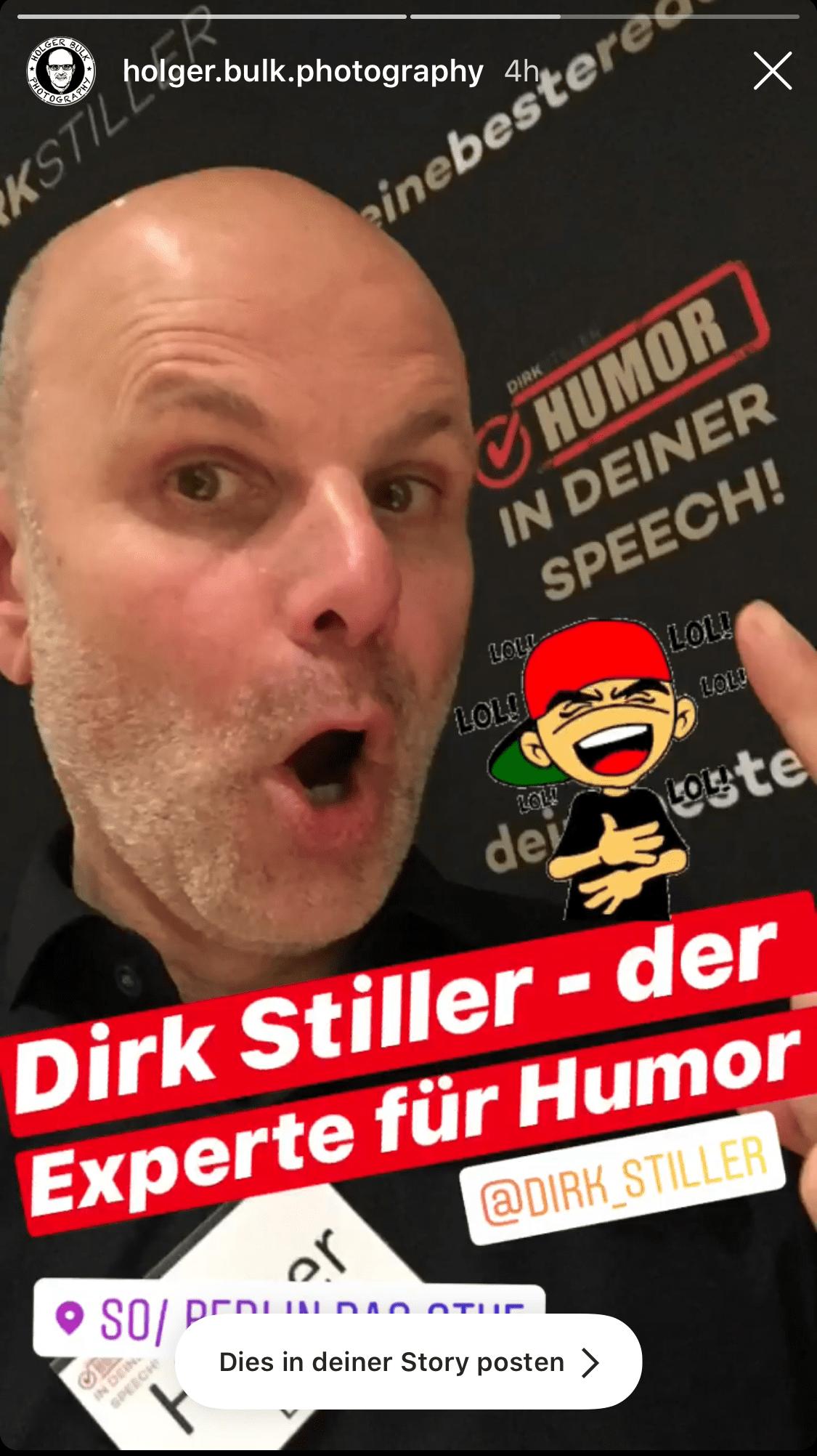 Holger Bulk über Dirk Stiller