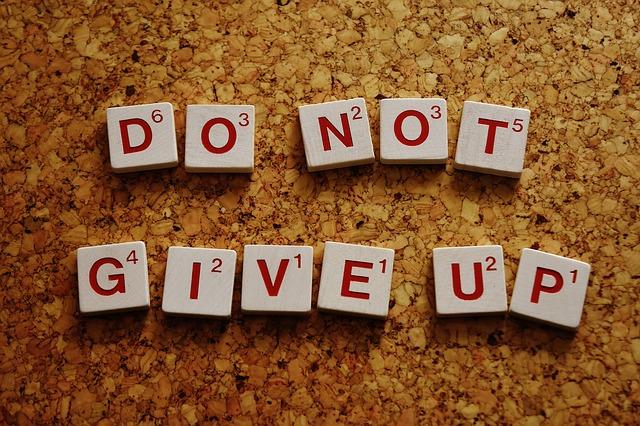 Nicht aufgeben: Motivation beibehalten