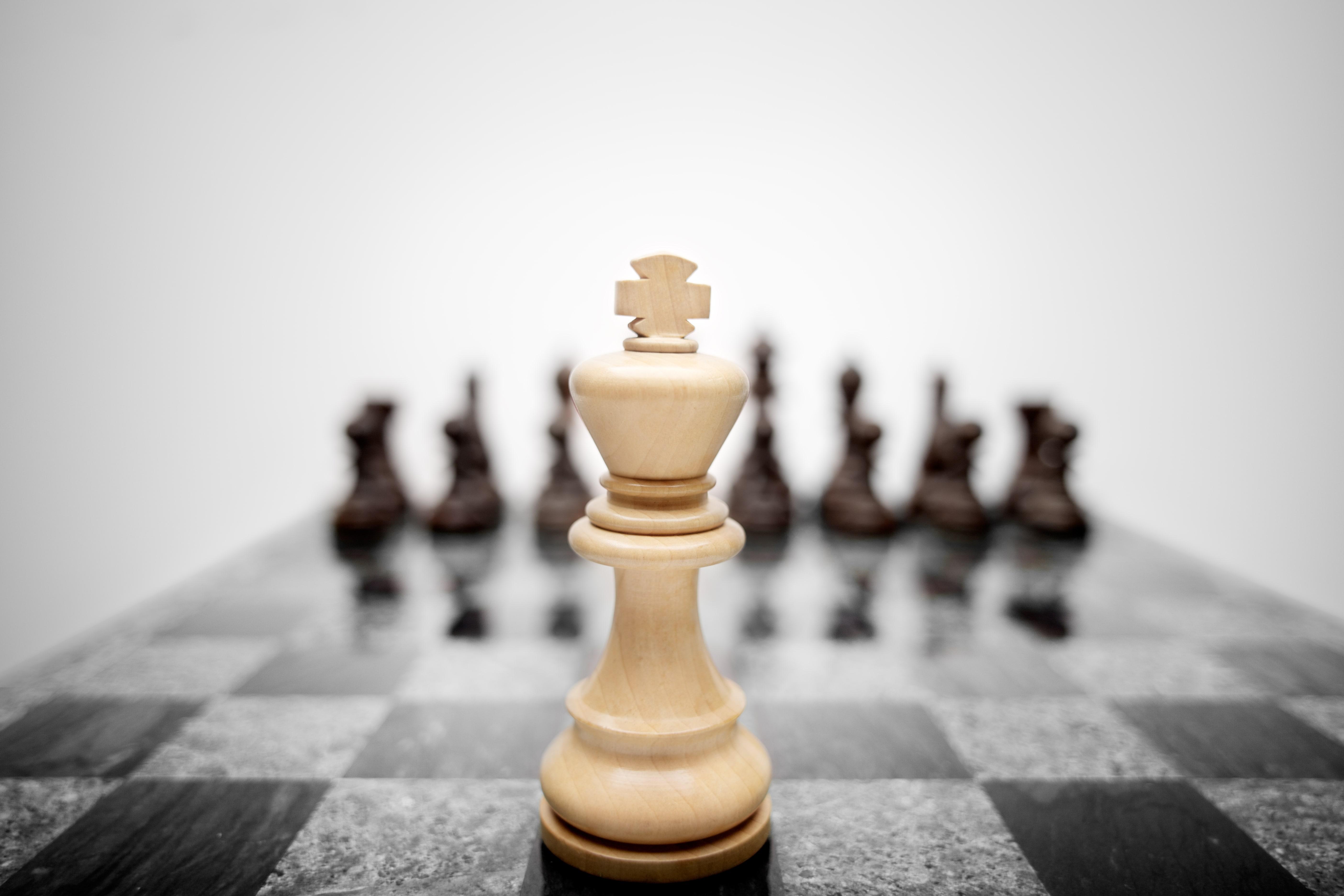Schach auf Brett
