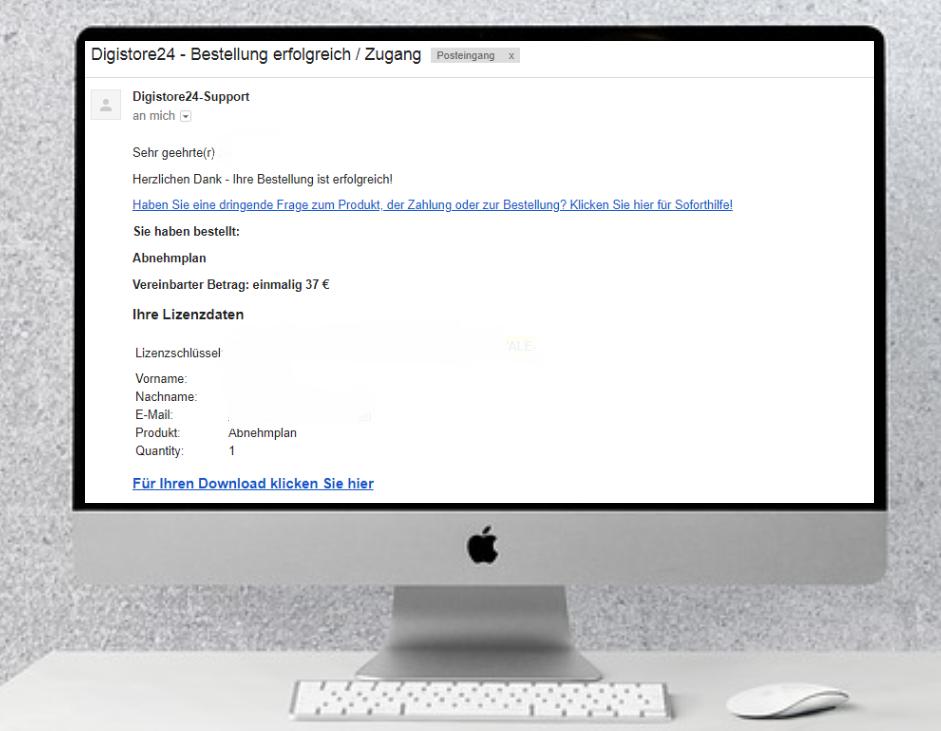 E-Mail Eingang mit Produktdaten