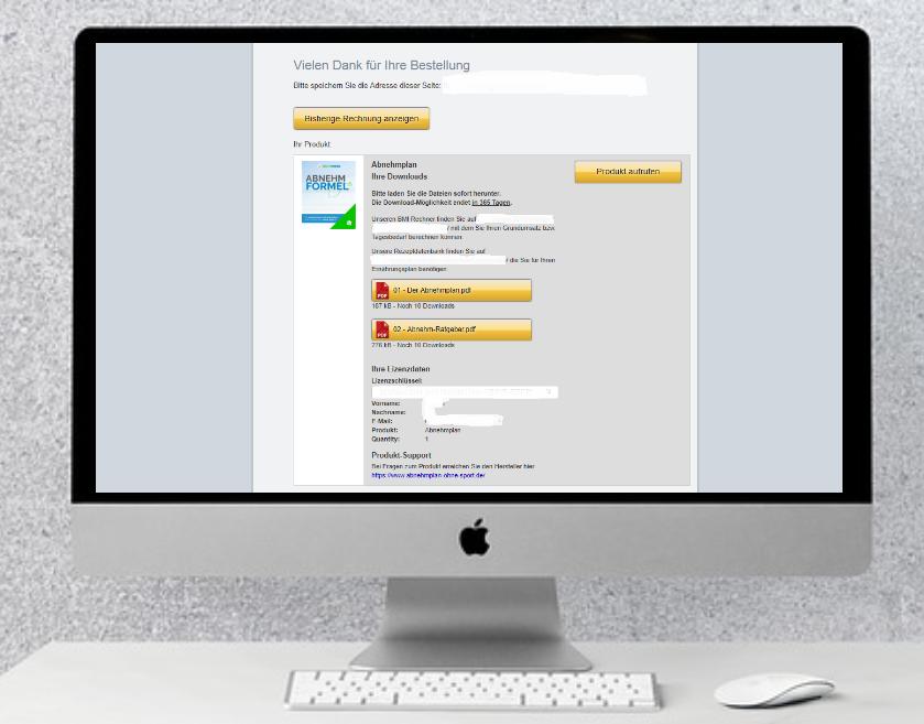 Zugriff auf das Produkt im digitalen Format