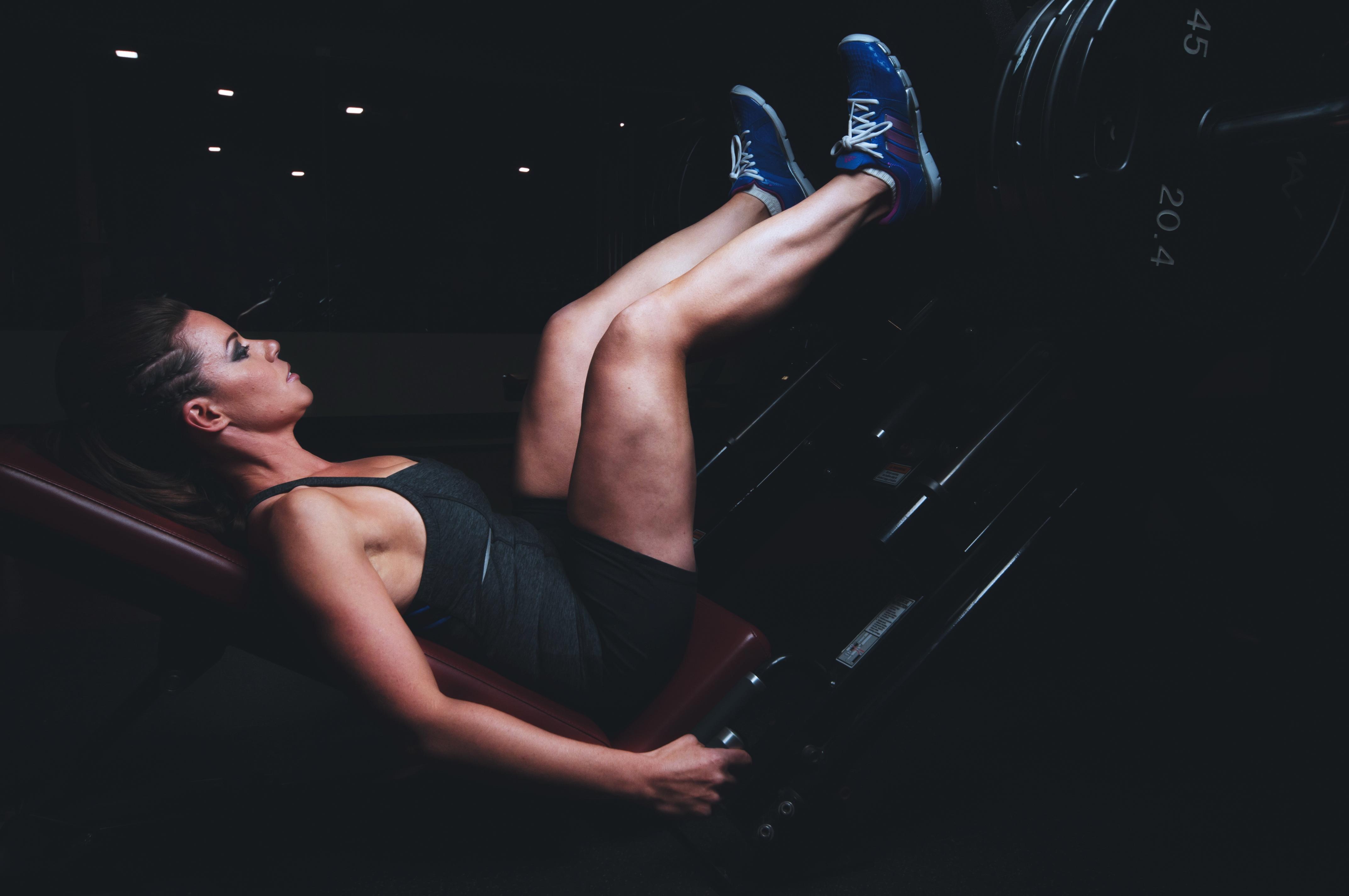 effektive Übung für schlanke Beine