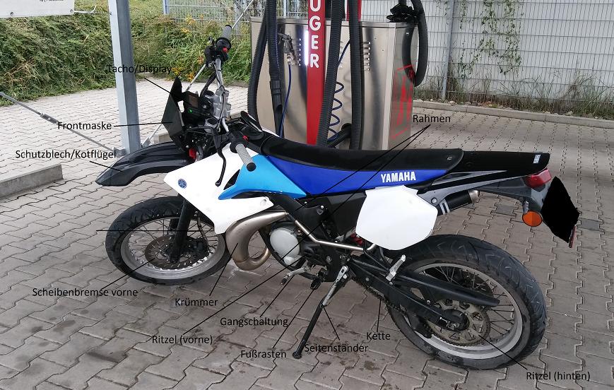 weitere wichtige Bauteile an einem Motorrad