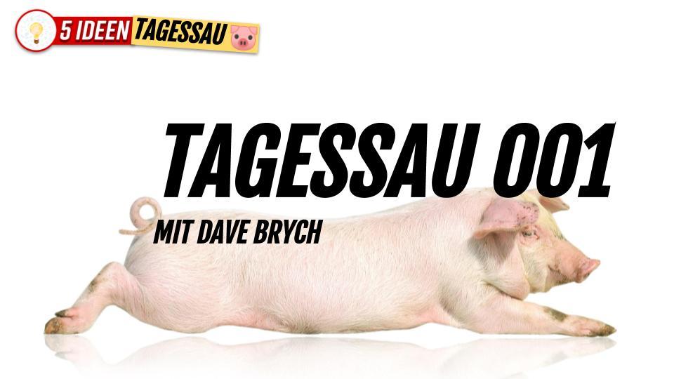 Tagessau 001 mit Dave Brych Wer das noch ernst nimmt, hat ernsthafte Probleme! 5 Ideen