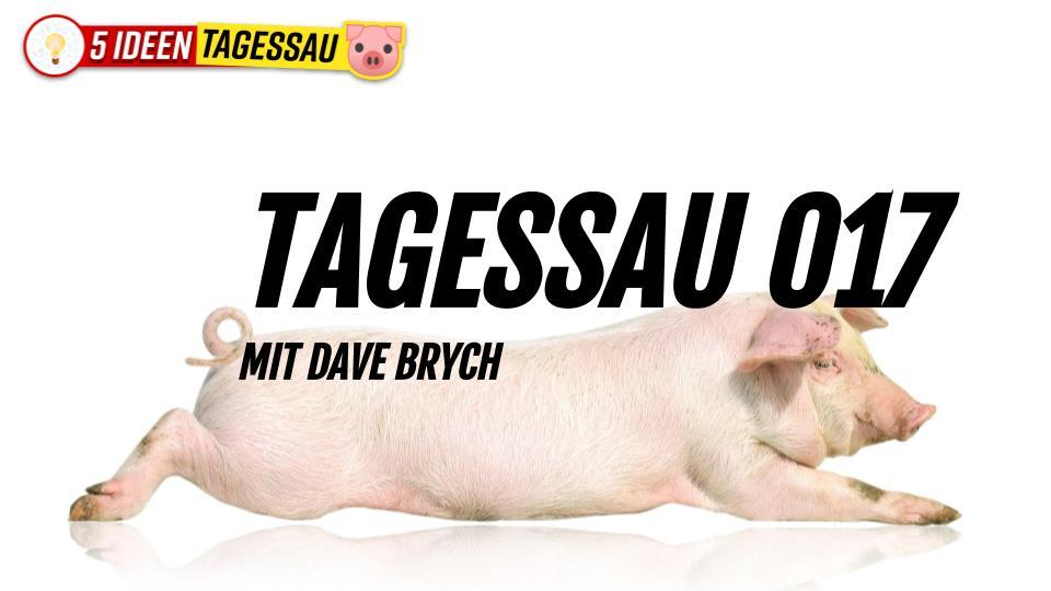 Tagessau 017 🐷 Sticker-Kampagne für Aufklärung #Satire
