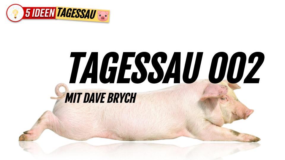 🐷 Tagessau 002 mit Dave Brych (#Satire, besser als in der TAZ) #Satiere