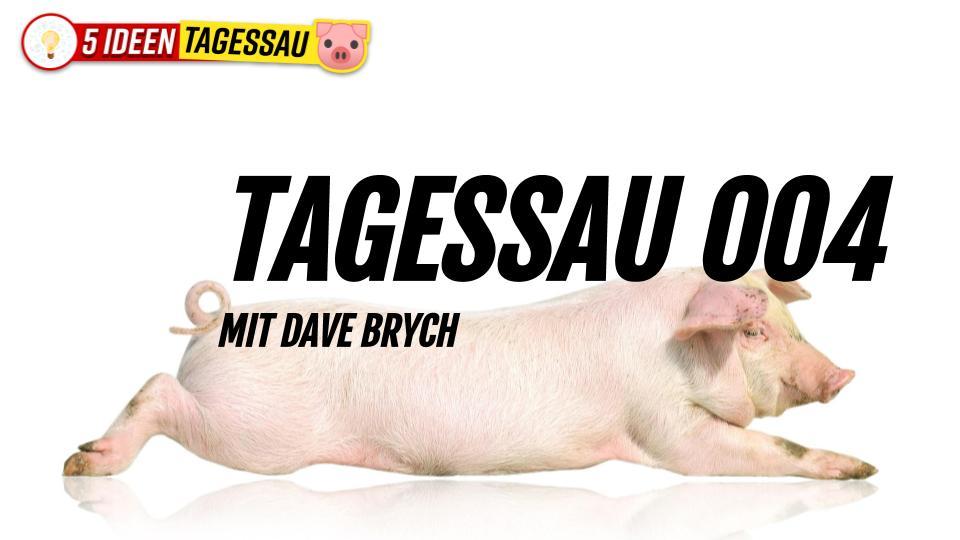 Tagessau 004 Propaganda ist teuer! #Satire mit Dave Brych