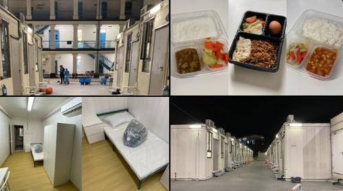 Quarantine camp room in Lei Yue Mun