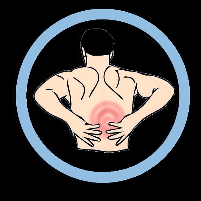 Schmerzen am unteren Rücken wegen Hexenschuss