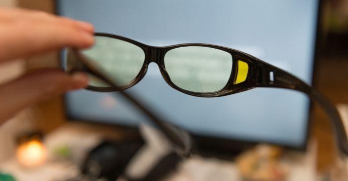 Blaulichtfilter Brille Gelb schützt vor blauem Licht - Augentraining Online