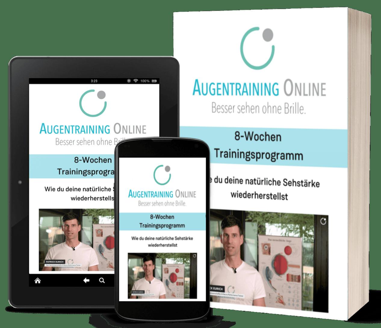 Augentraining Online Mockup Produkt