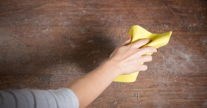 Staub Hausstaub Feinstaub vermeiden Augen
