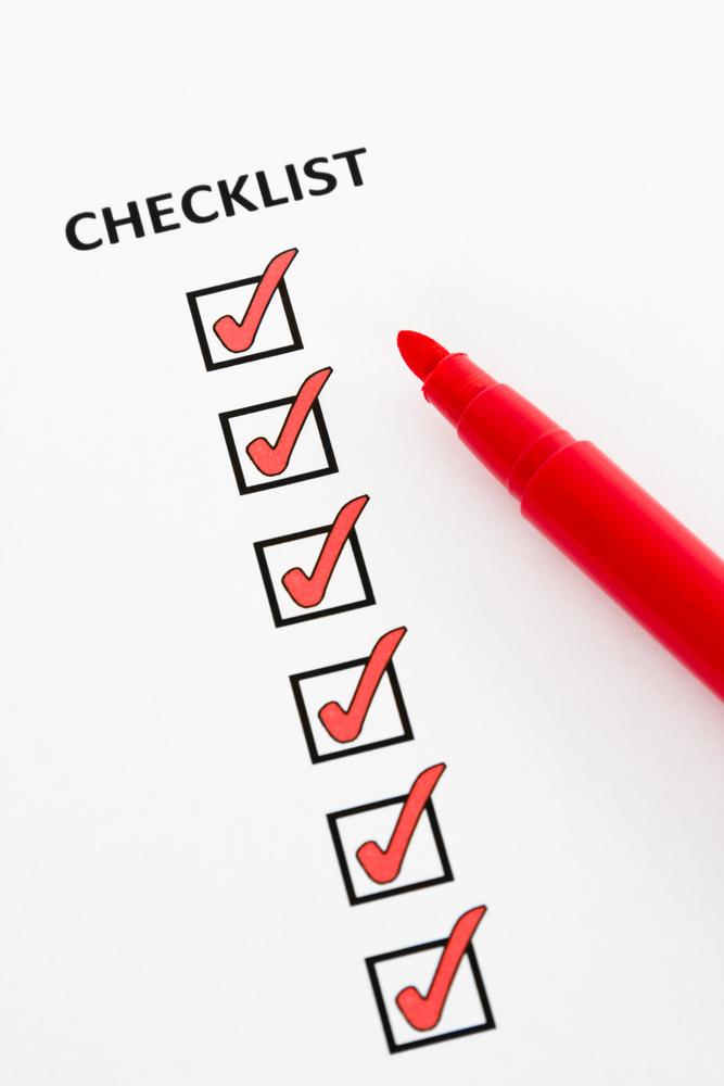 Checkliste um Ziele zu erreichen und abzuhaken