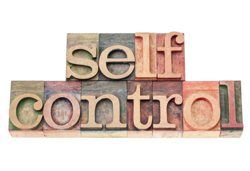 self control - Selbstdisziplin in Worte geschrieben