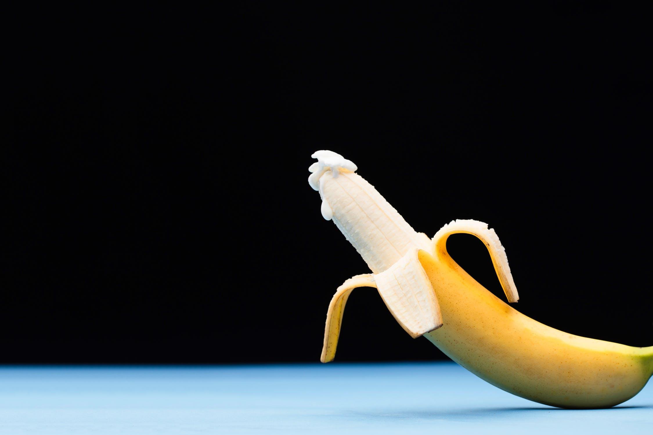 stilisierte Banane als Penis mit Sperma