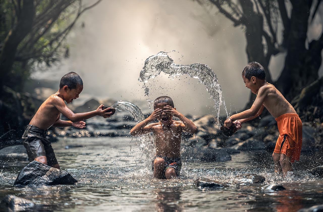 Kinder haben Freude
