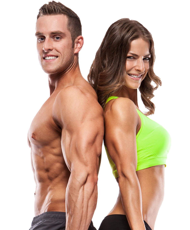 Mann, Frau, Muskelaufbau, Training