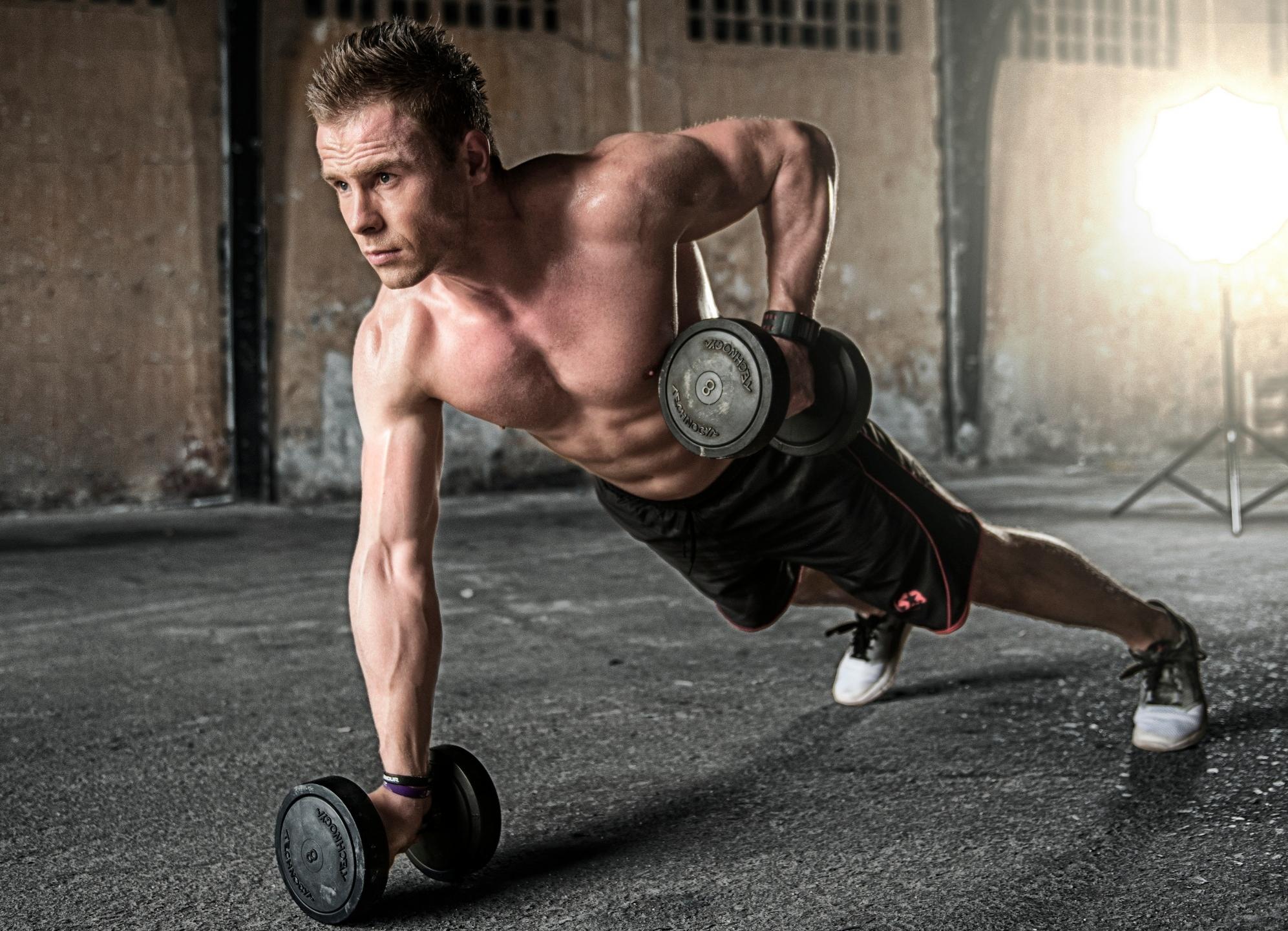 Mann mit Energie, Training