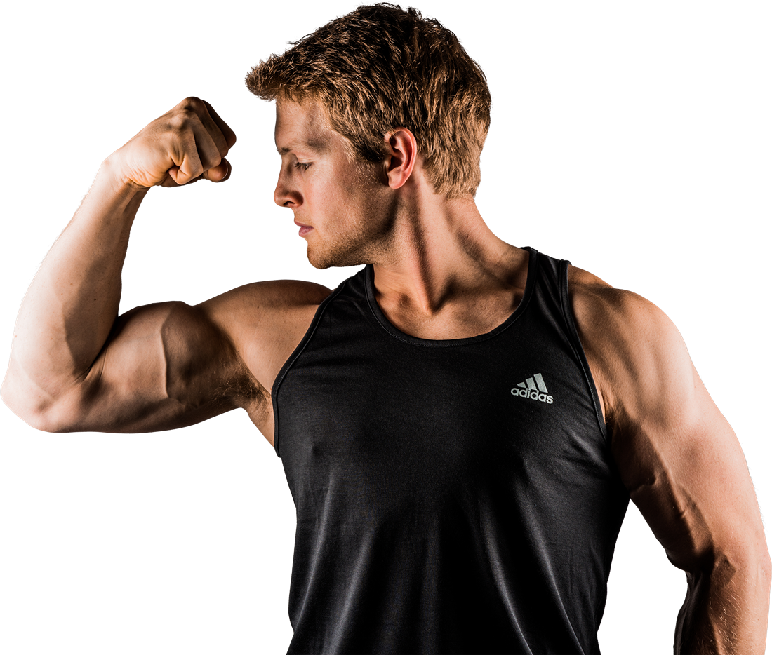 Muskeln aufbauen, Fitness, Mann, Frau