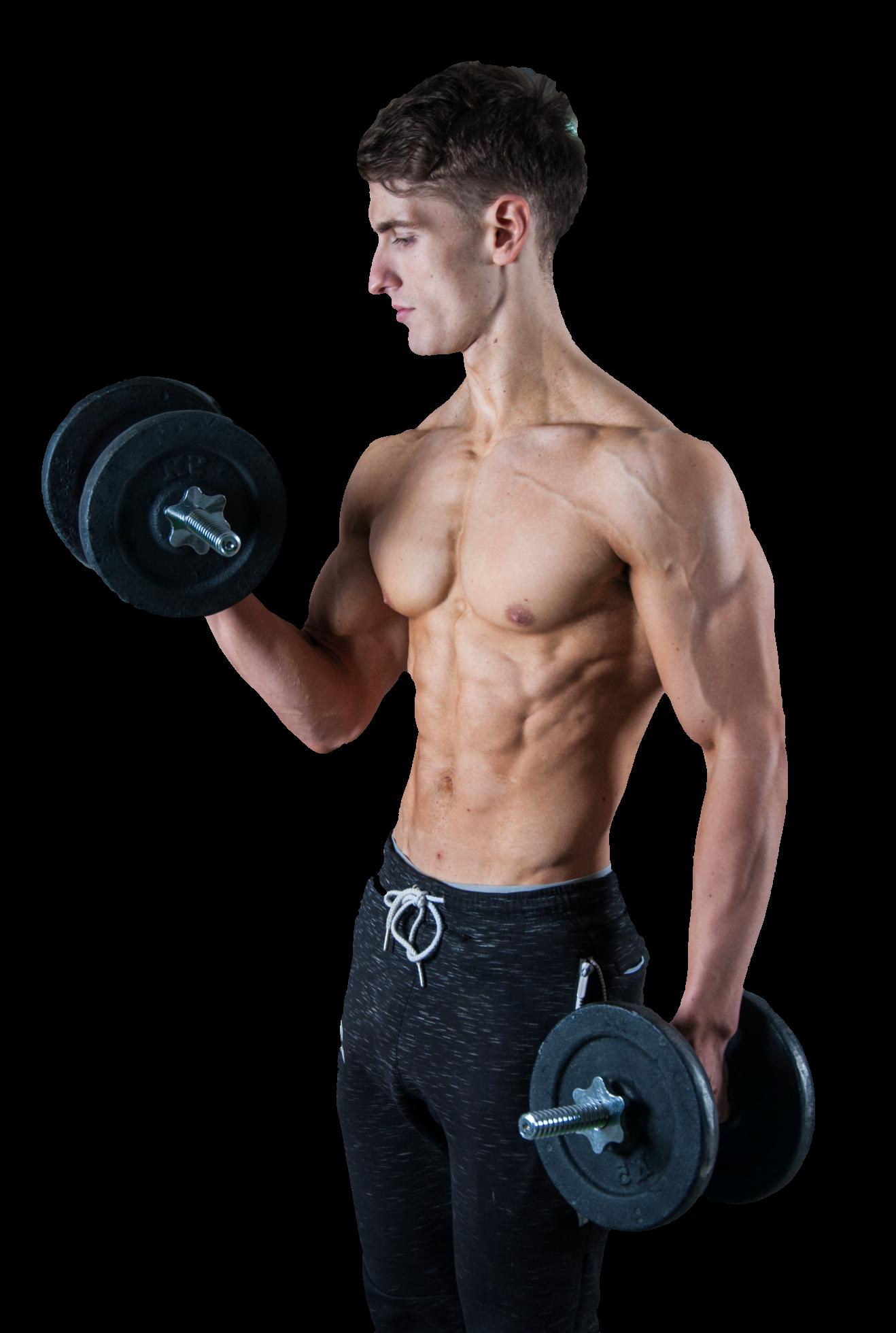 Mann, Körper, definierte Muskeln