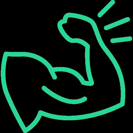 Muskelaufbau Strategie, Logo