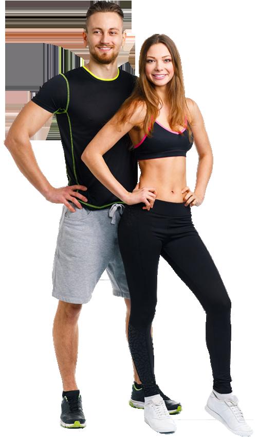 Mann, Frau, abnehmen mit Muskelaufbau