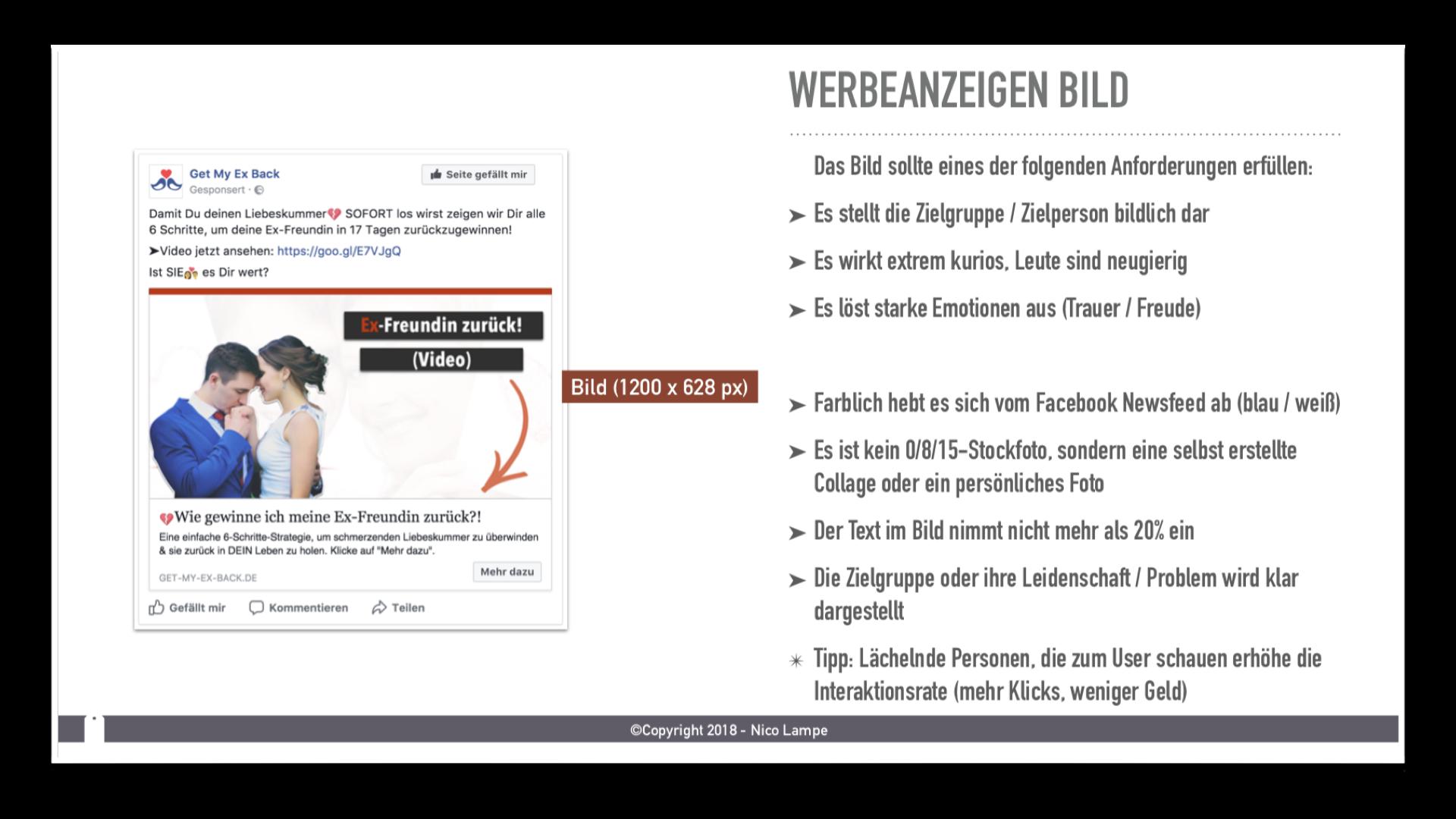 facebook werbeanzeige erstellen tutorial von nico lampe
