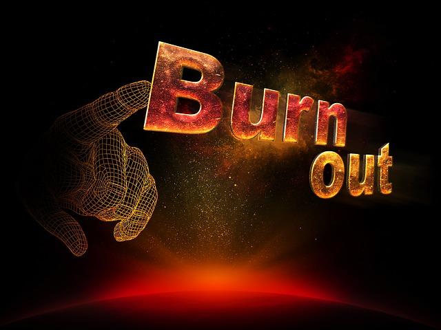 Burnout in flammenoptik