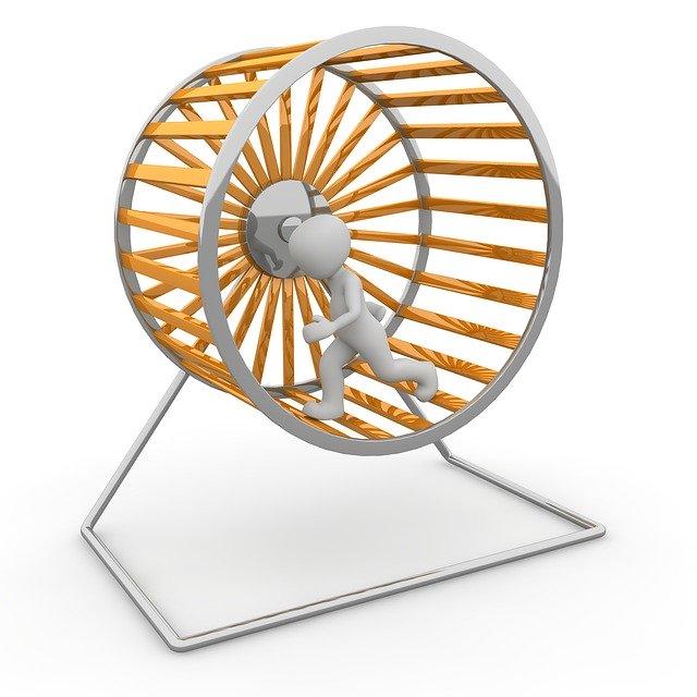 Mensch im Hamsterrad