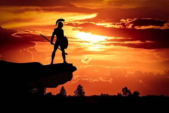 selbstdisziplinierter spartaner