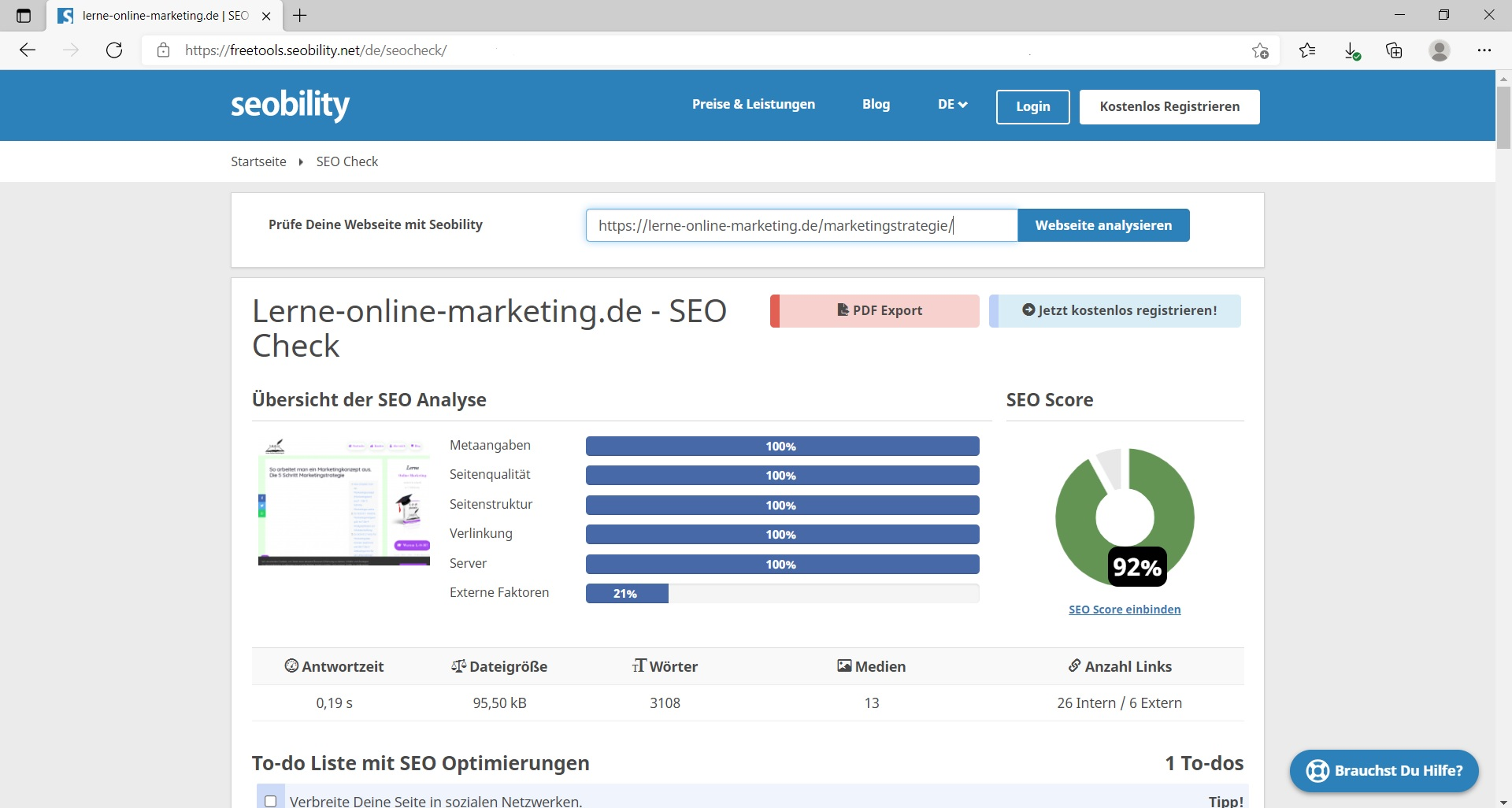 [Seobility] Blogbeitrag SEO Optimierung Tool